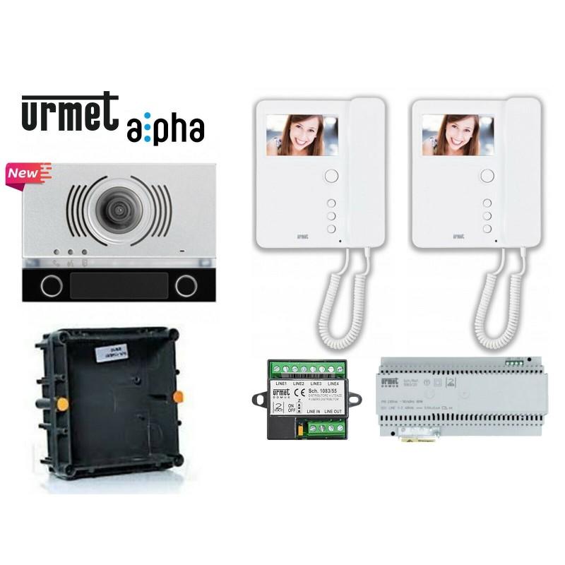 Schema Elettrico Urmet 2 Voice : Kit videocitofonico bifam urmet colori