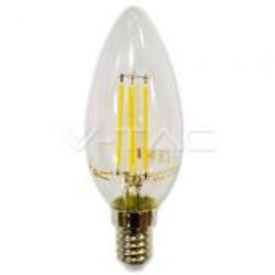 LAMPADE LED OLIVA E14 4W L/BIANCA FILAME