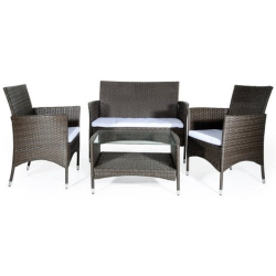 SET GIARDINO SOFA' CAPRERA MARRONE/ECRU'