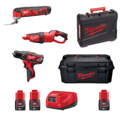 TRAPANO A BATT. MILWAUKEE M12 SET3E-203C