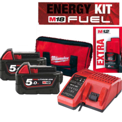 ENERGY KIT M18 FUEL : 2 BATTERIE 5AH +