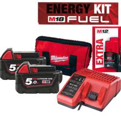 ENERGY KIT M18 FUEL : 2 BATTERIE 5AH +