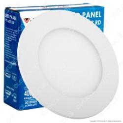 PANNELLO LED cm.12 TONDO 6W L/NATURALE