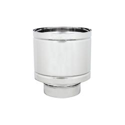 TUBI STUFA INOX TERMINALE A BOTTE D.150