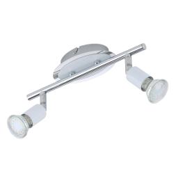 BRILO BARRA WHITE 2L X 3W GU10 LED