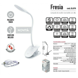 LAMPADA DA TAVOLO A PINZA CFG FRESIA 9W
